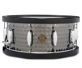 Gretsch Wood Hoop Black Steel Snare 14x6,5