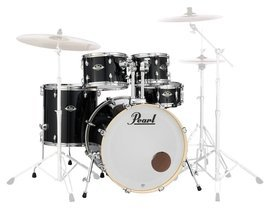 Pearl Export Rock -  Jet Black (#31) + Sabian