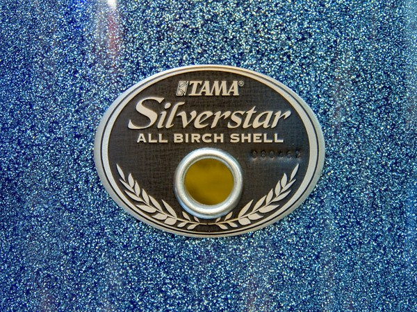 tama silverstar blue sparkle badge