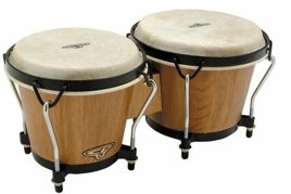 Latin Percussion CP Traditional Bongos, Dark Wood