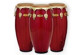 Pearl Big Belly Havana Conga Set Red Tiger Stripe