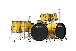 Tama Imperialstar Big Double Bass Drum Set + Hardware (Gold Yellow Sparkle)